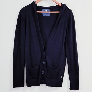 AEO Hooded Oversized Deep V-neck Cardigan